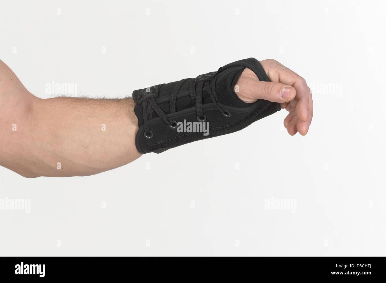 Arm With Broken Wrist & Wrist Brace - Stock Image