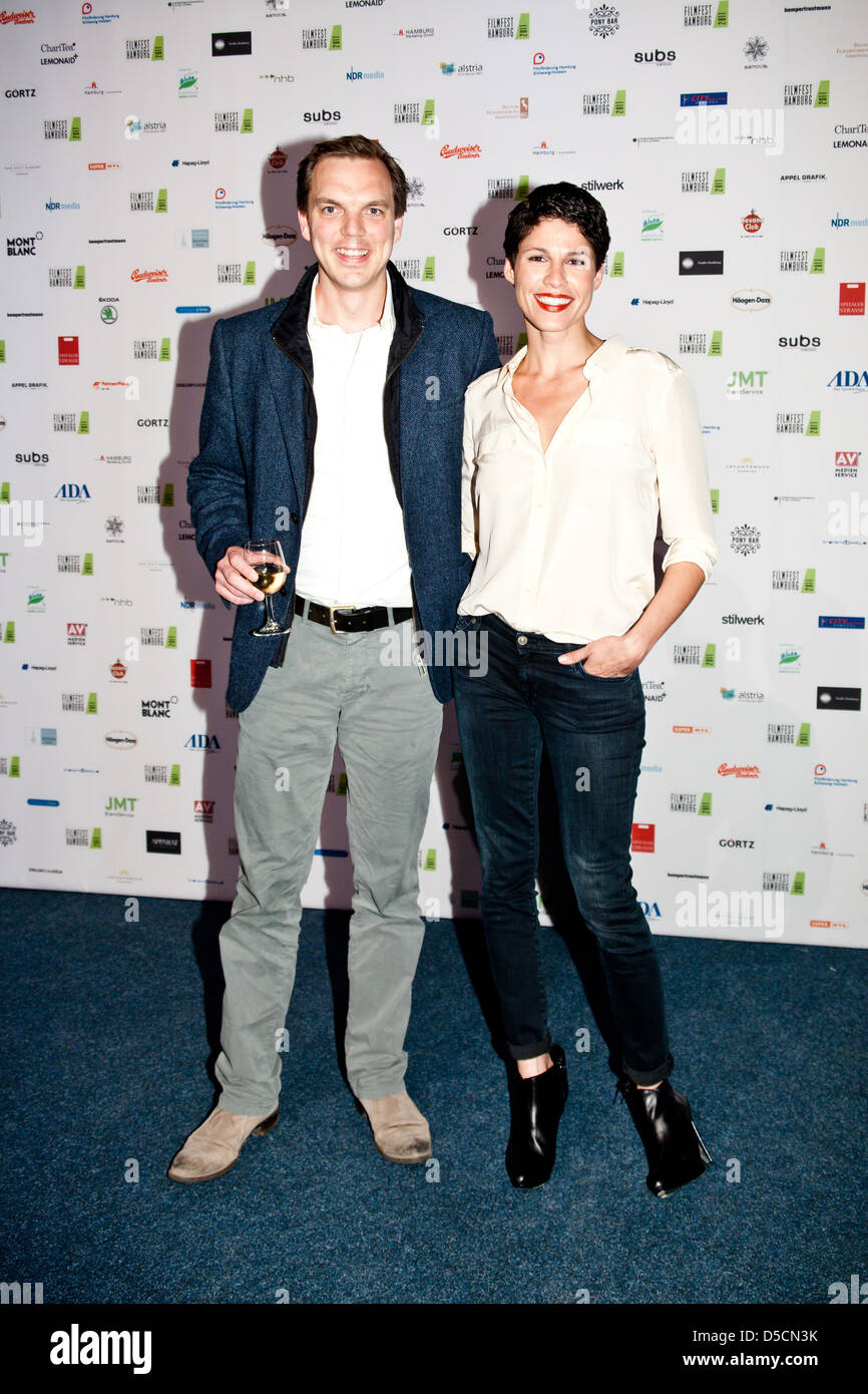 Andy Gaetjen and Jasmin Gerat at the launch of Filmfest Hamburg with the premiere of 'Auf Wiedersehen' at - Stock Image