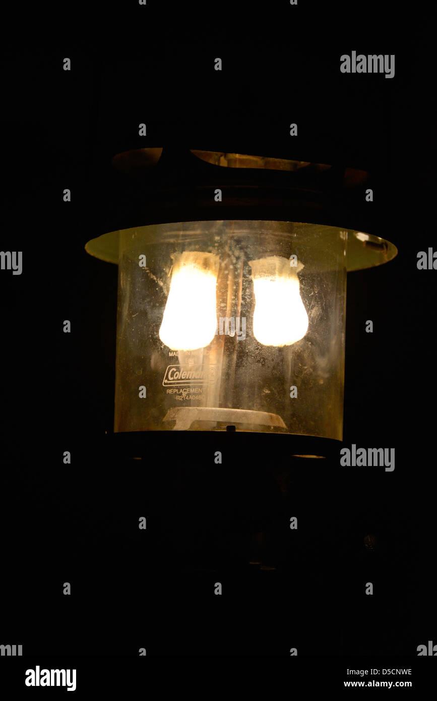 Coleman lantern. - Stock Image