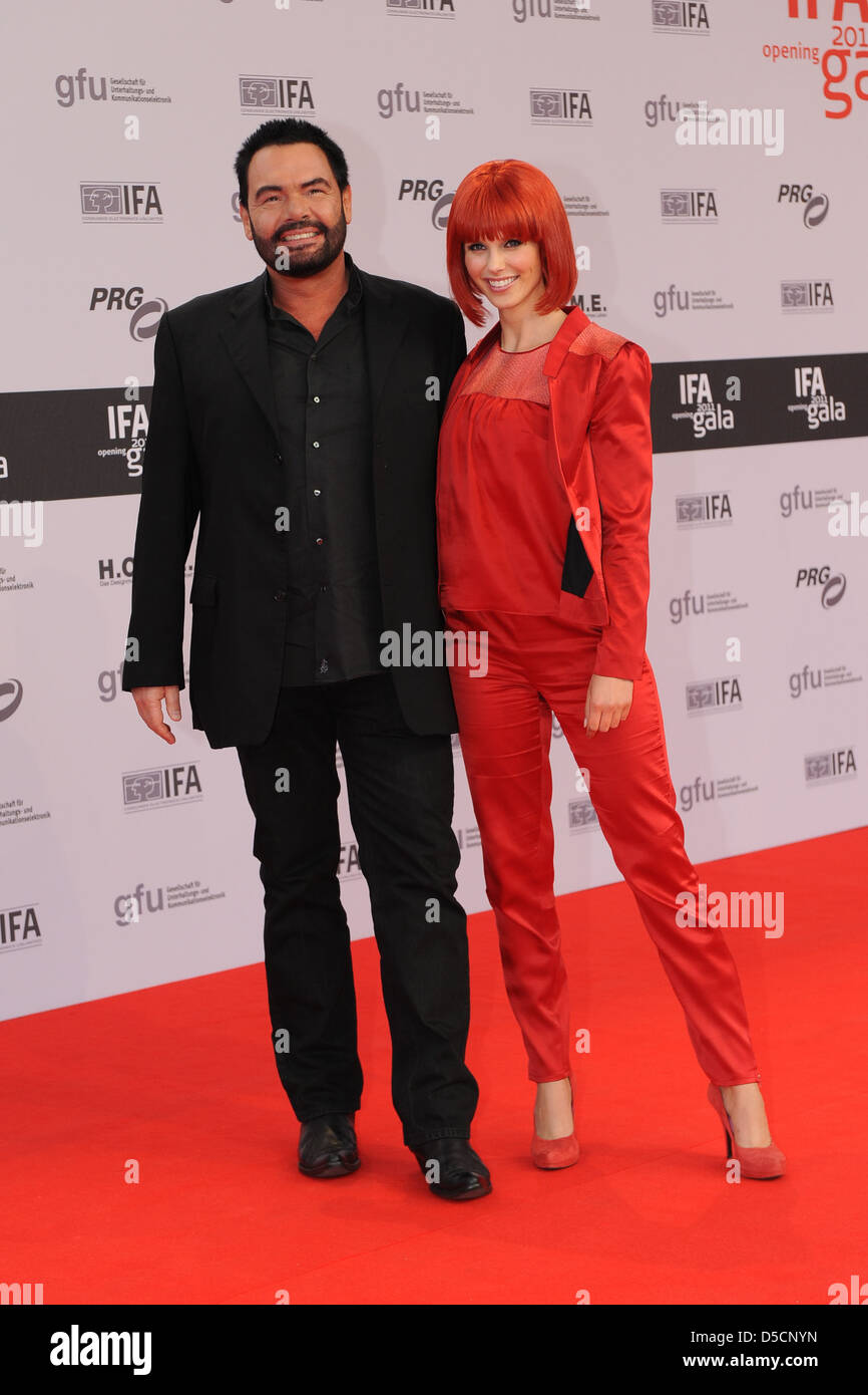 Marian Gold Singer Alpahville And Miss Ifa Eva At The Opening Of The Ifa International Consumer Electronics Trade Show