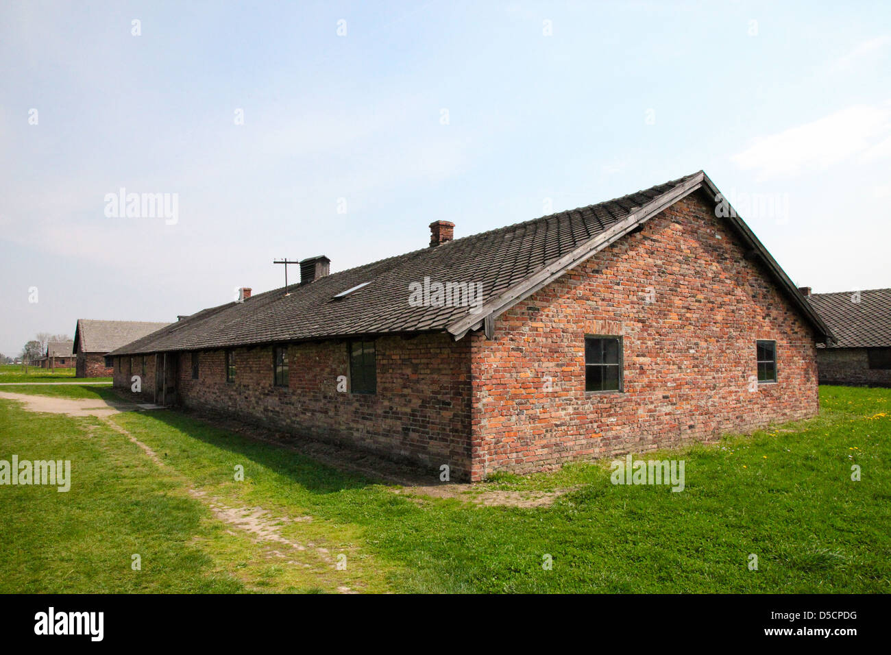 Auschwitz Camp, a former Nazi extermination camp in Poland. - Stock Image
