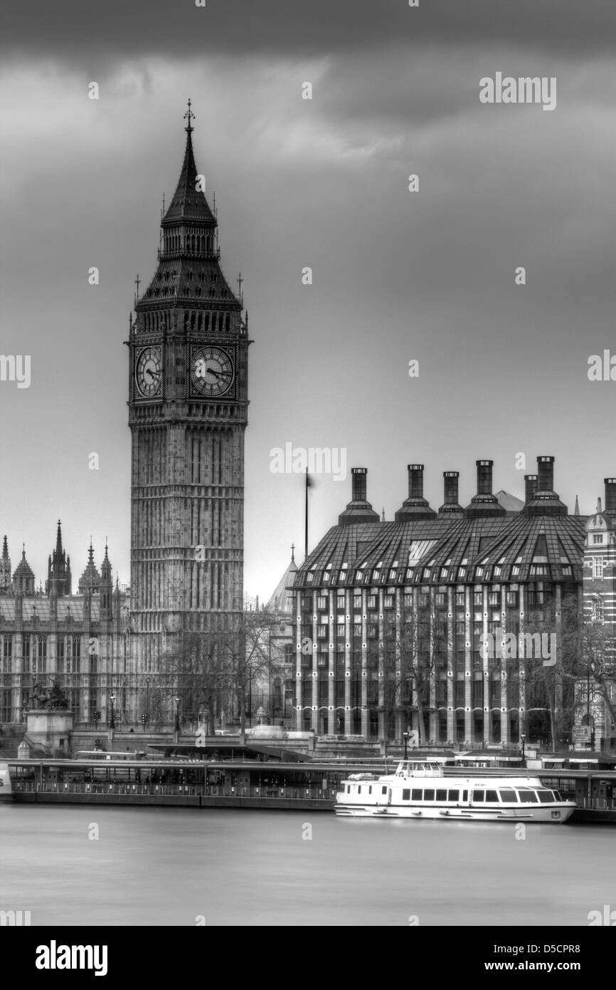 The Elizabeth Tower more commonly known as Big Ben, London, England - Stock Image