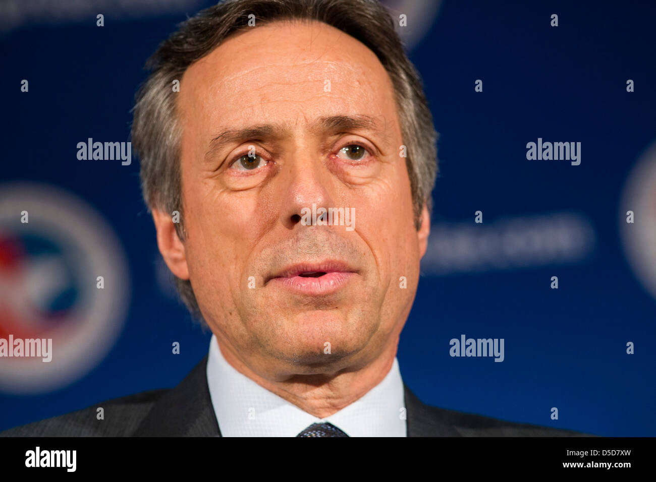 Guy Hachey, President and Chief Operating Officer (COO) of Bombardier Aerospace. - Stock Image