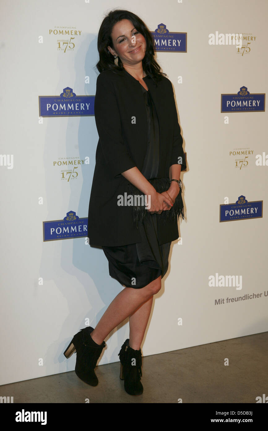 Minu Barati Fischer at a dinner in celebration of the 175th anniversary of Pommery Champagne at French Embassy at - Stock Image
