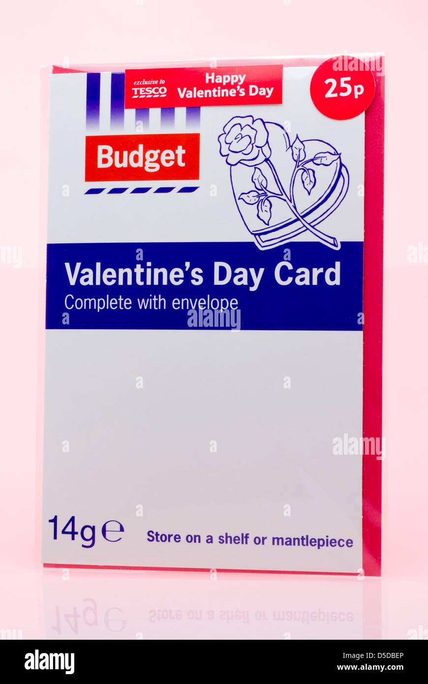 Tesco Budget Valentine S Day Card Stock Photo 54998798 Alamy