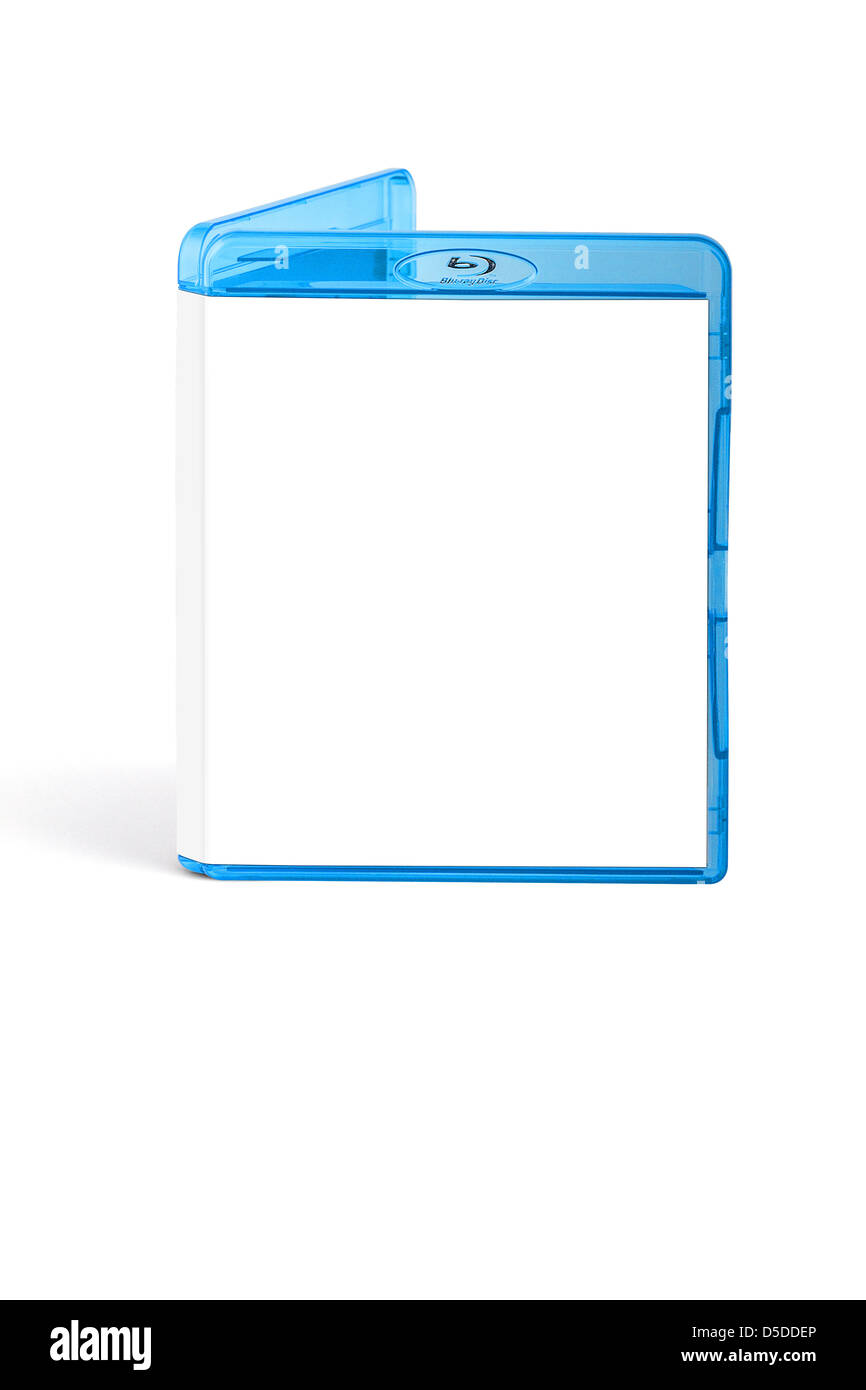 Blu Ray box with blank white cover - Stock Image