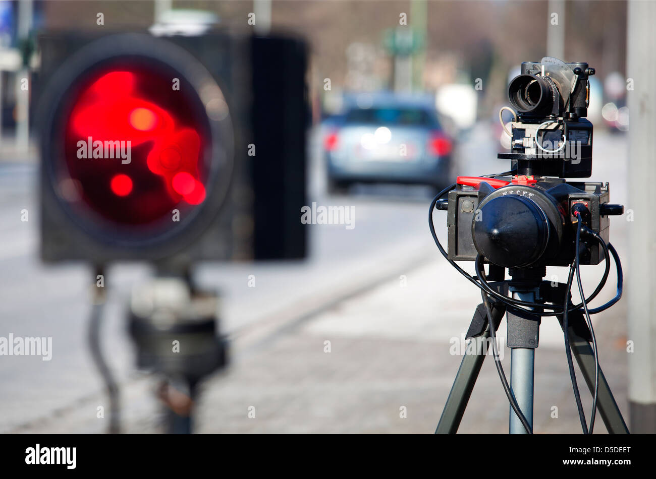 Duisburg, Germany, speed control using radar measuring - Stock Image