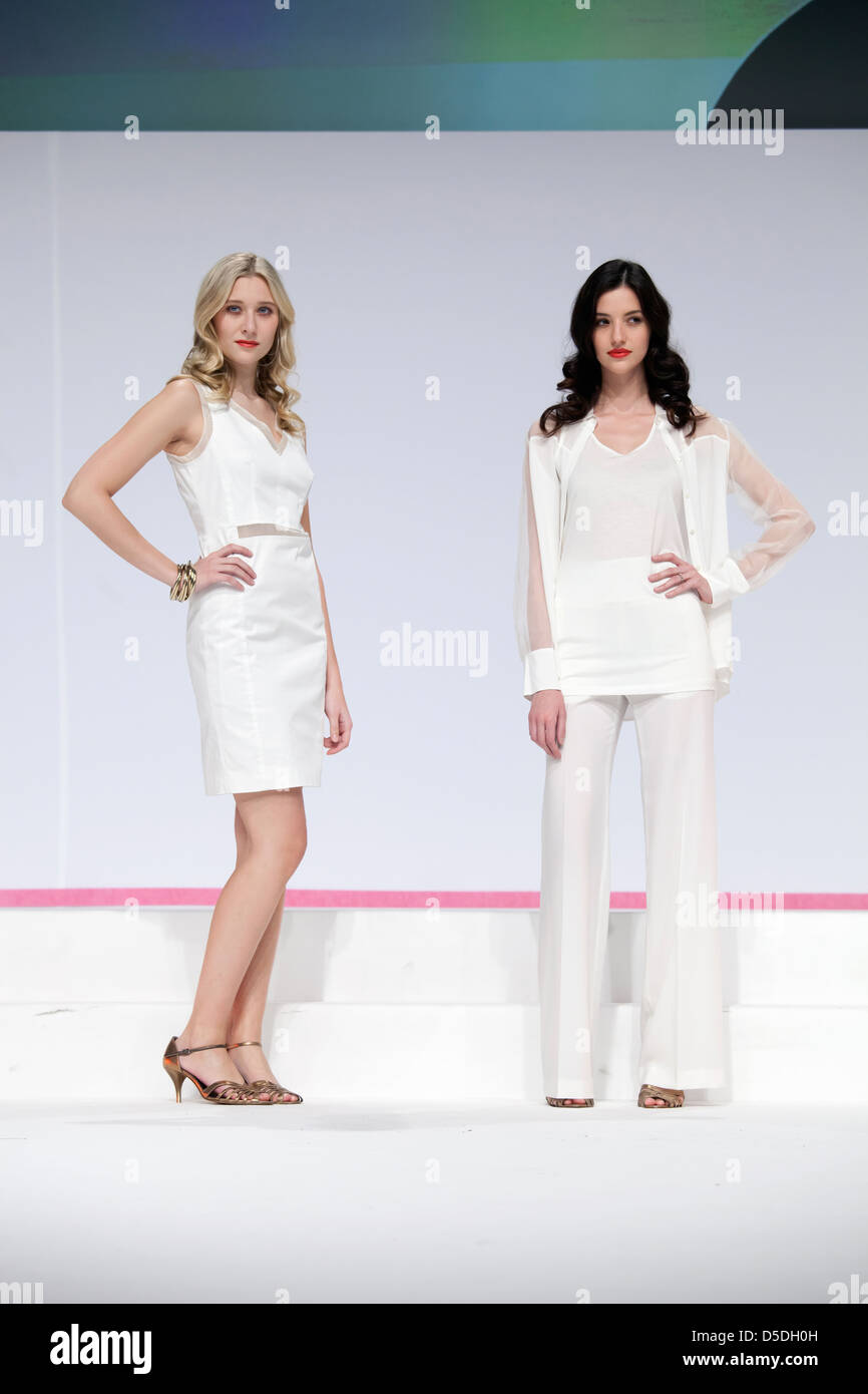 Duesseldorf, Germany, fashion show at the fair beauty - Stock Image