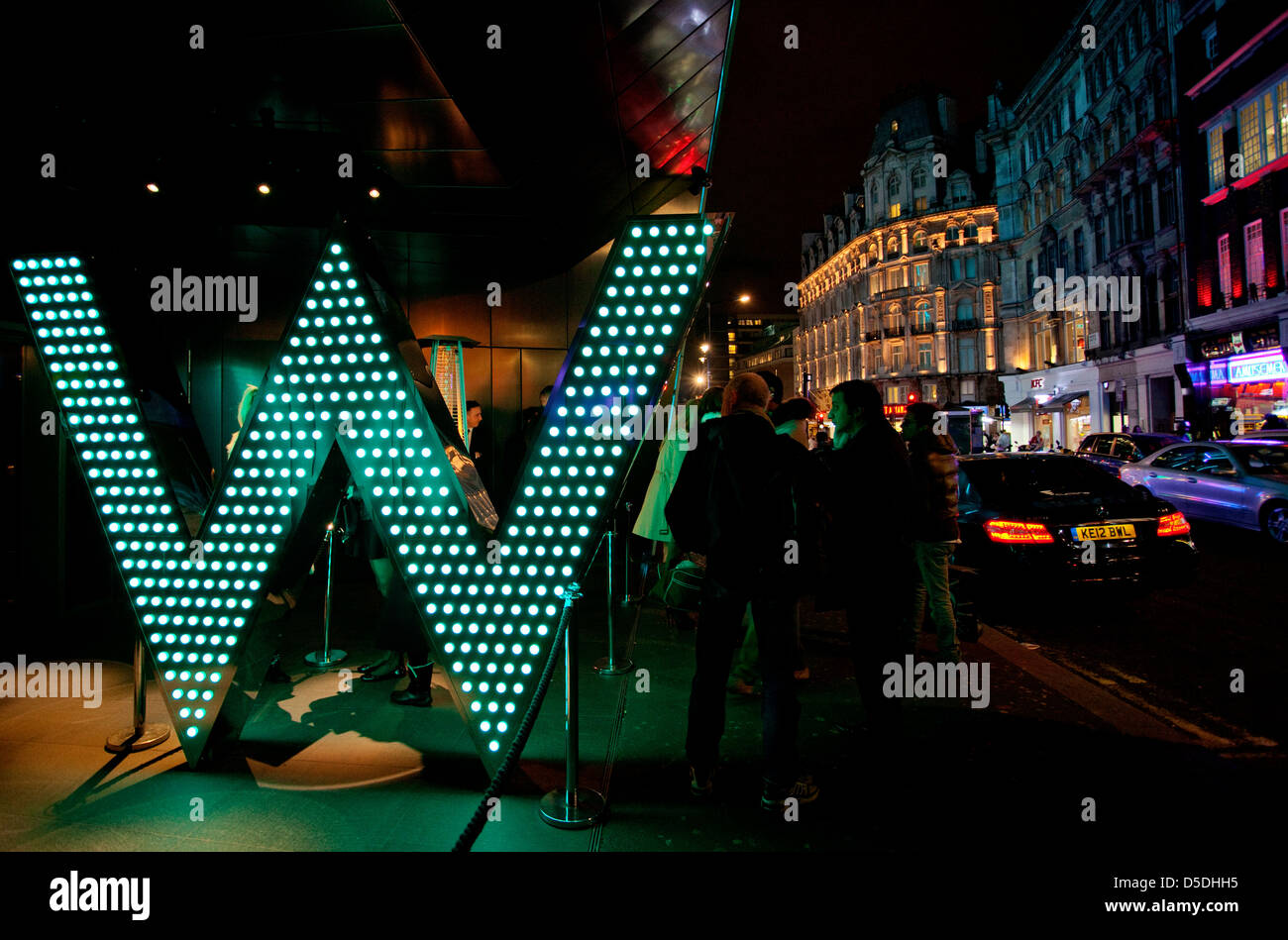 W Hotel, Leicester Square, London - Stock Image