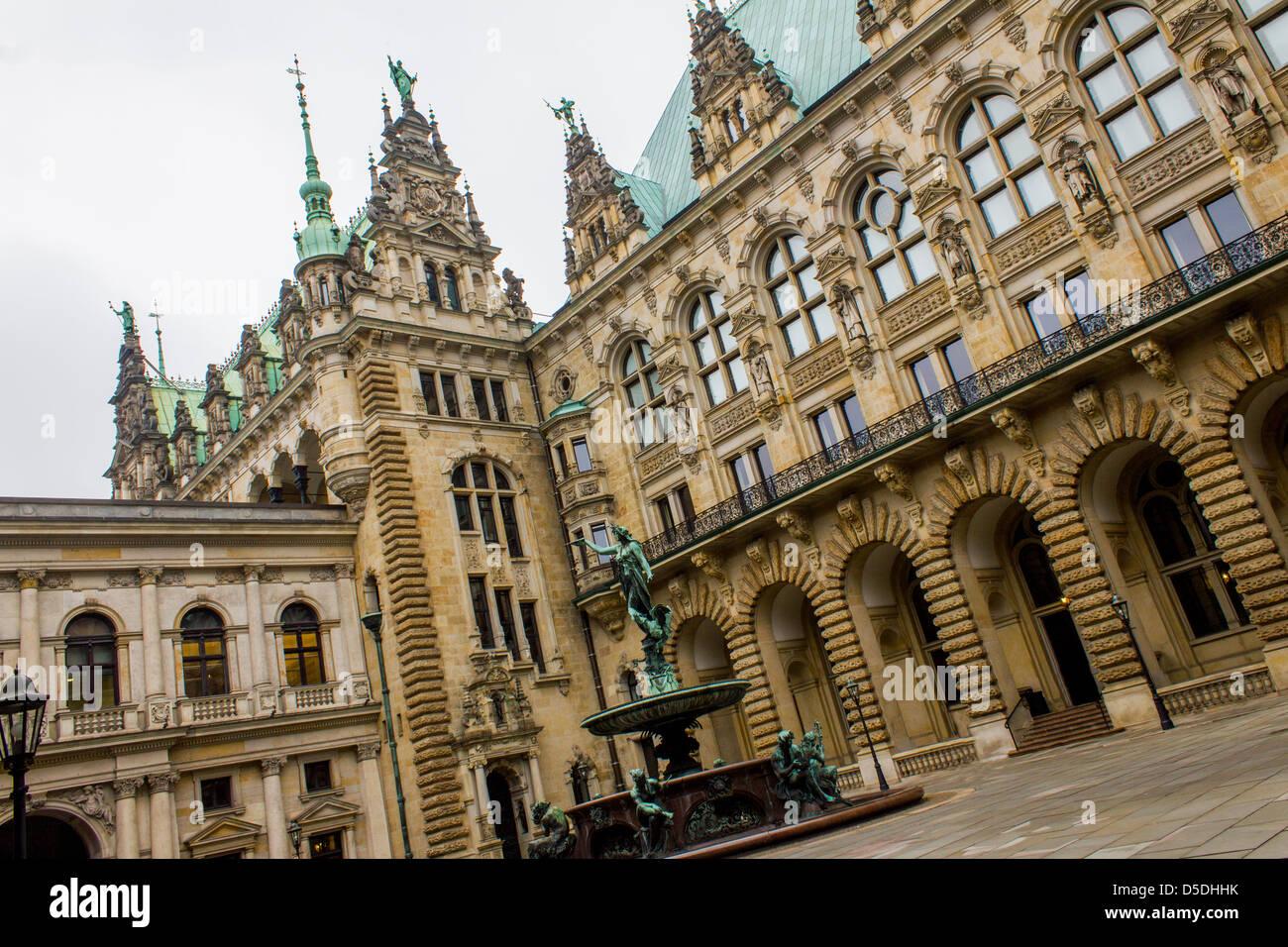 Hamburg Rathaus - Stock Image