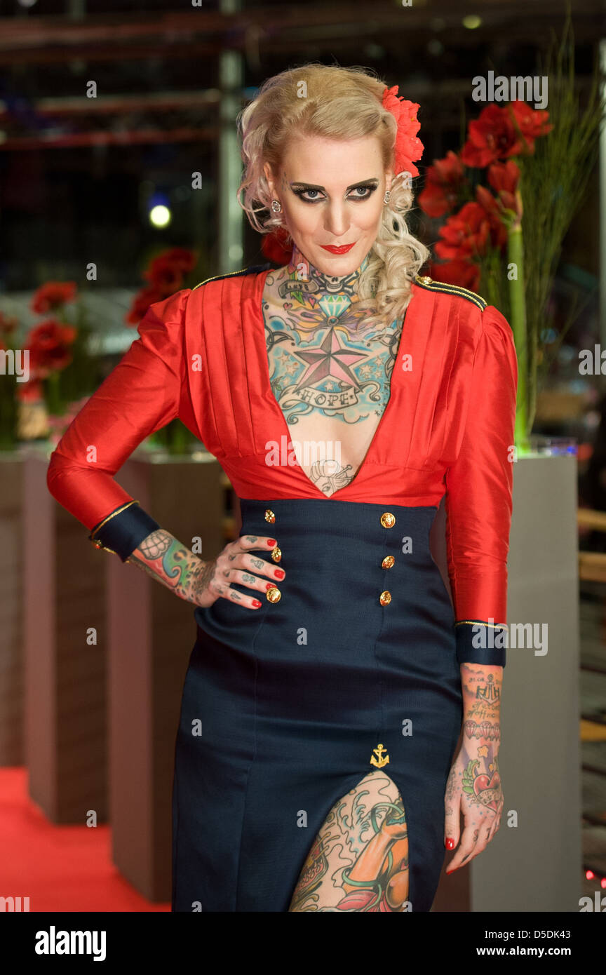 Berlin, Germany, Model Lexy Hell at the Berlinale 2012 Stock Photo