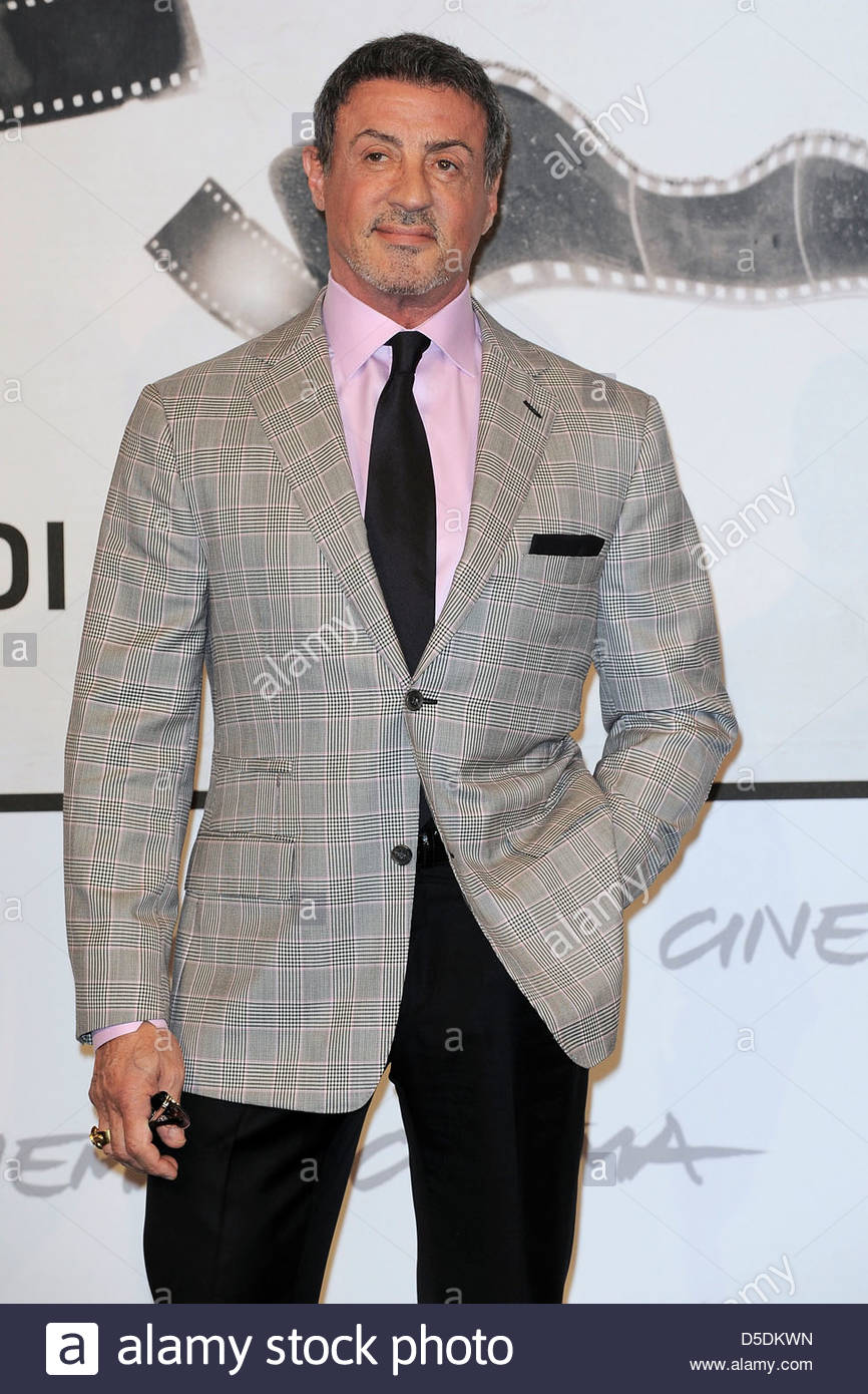 sylvester stallone,international film festival of rome - Stock Image