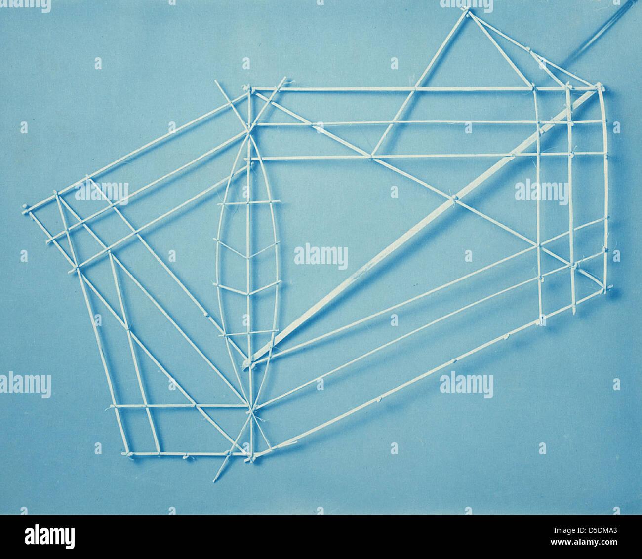 Chinese Kite Frame - Stock Image