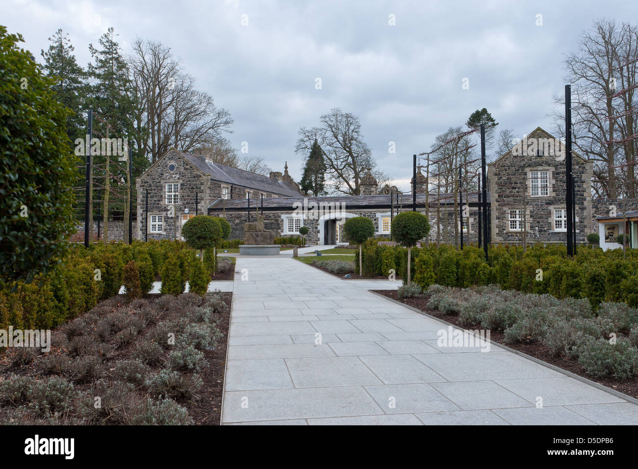 Clotworthy House, Co Antrim Castle Gardens N.Ireland - Stock Image