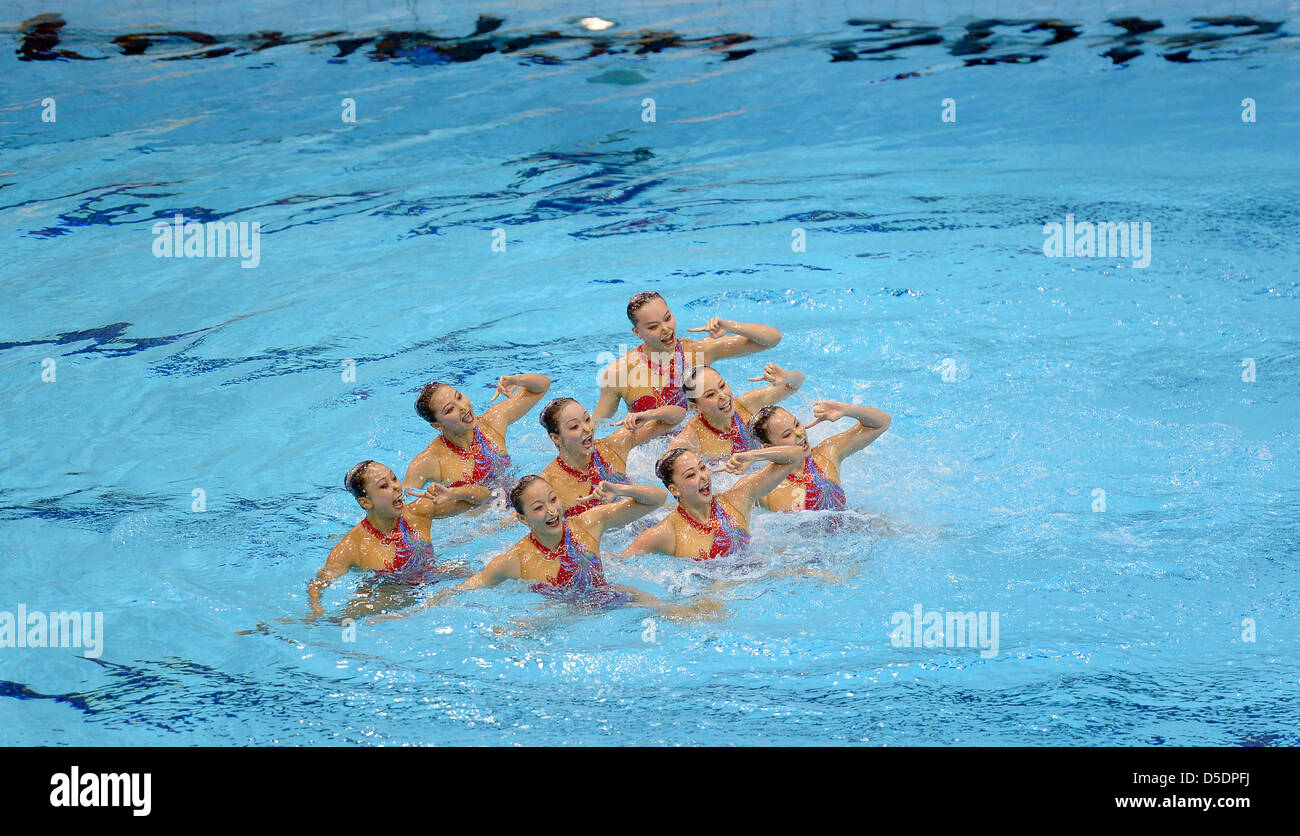 People's Republic of China. Synchronised Swimming team - Stock Image