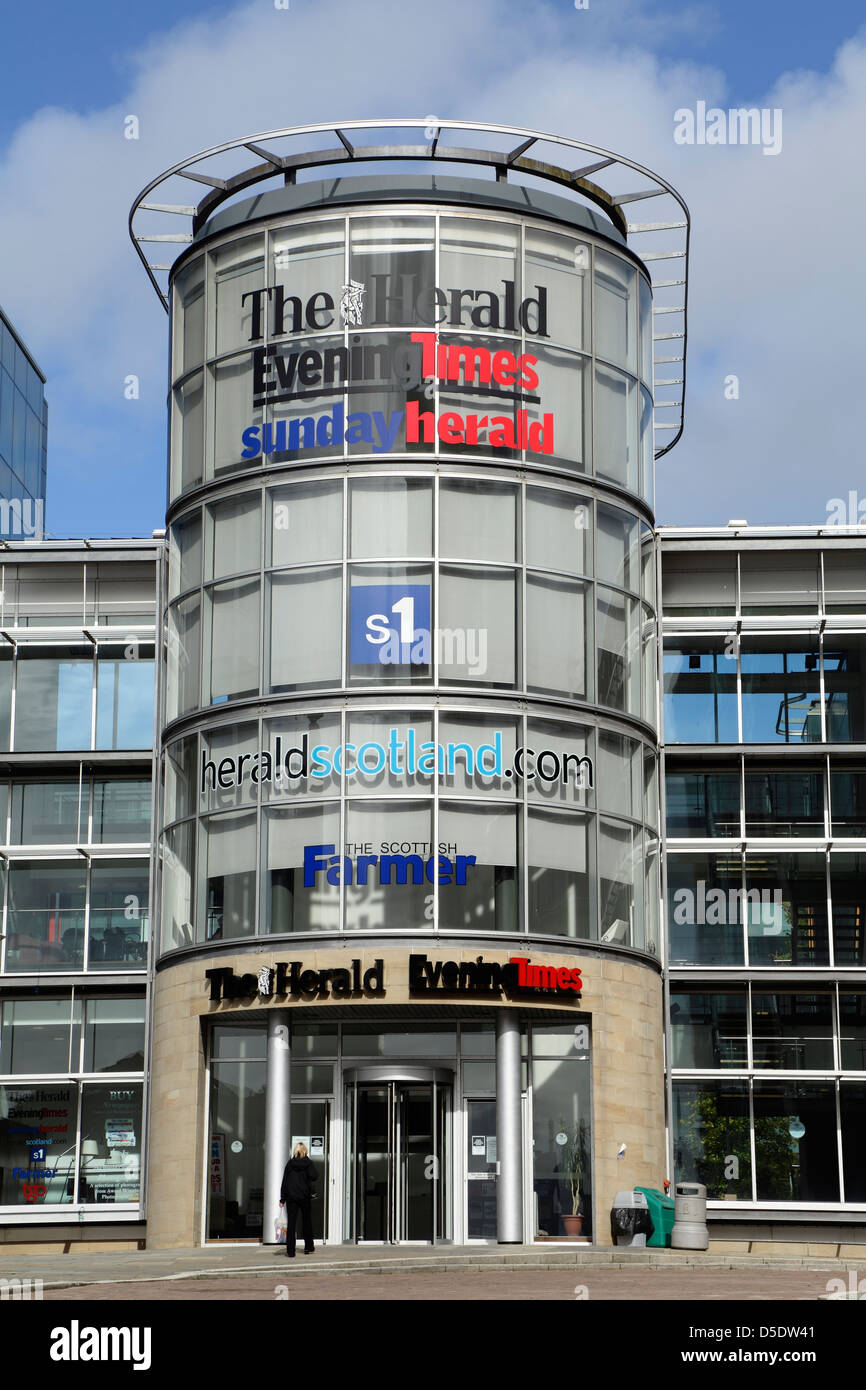 Herald, Evening Times, Scottish Farmer and S1 building, Newsquest Media, 200 Renfield Street, Glasgow, Scotland, - Stock Image