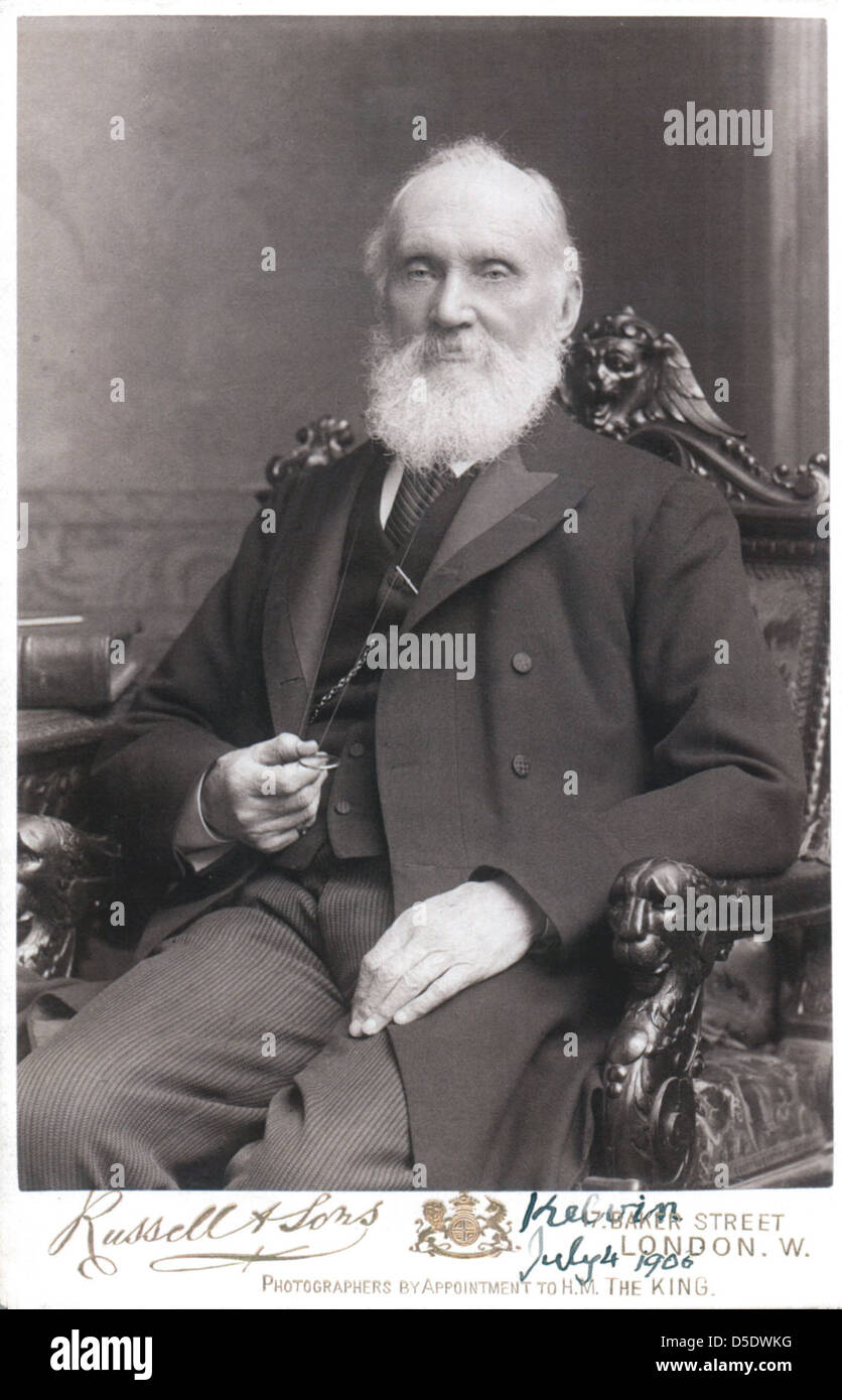 Portrait of William Thomson, Baron Kelvin (1824-1907), Physicist - Stock Image