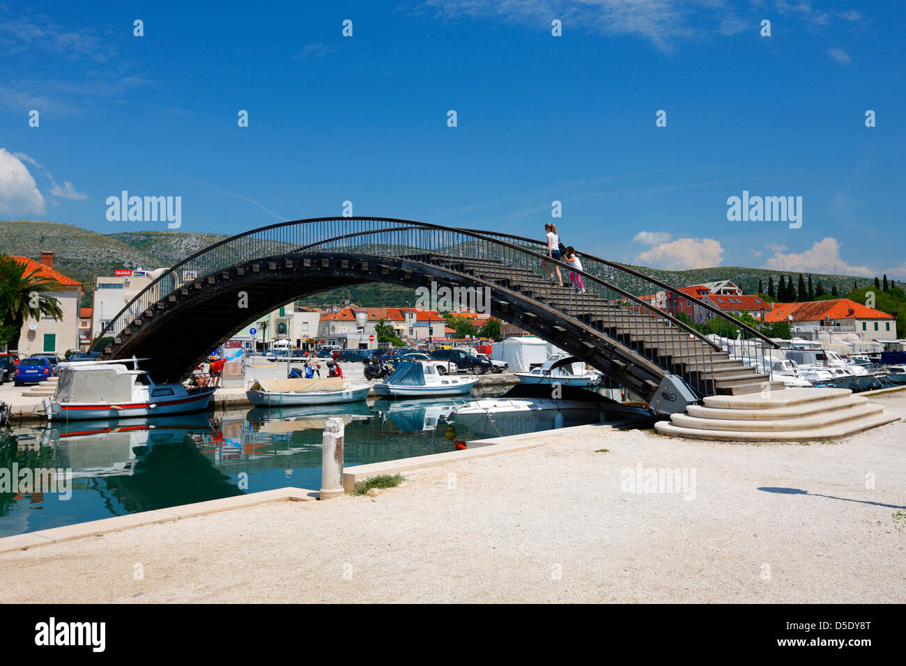 Trogir, pedestrian bridge Stock Photo