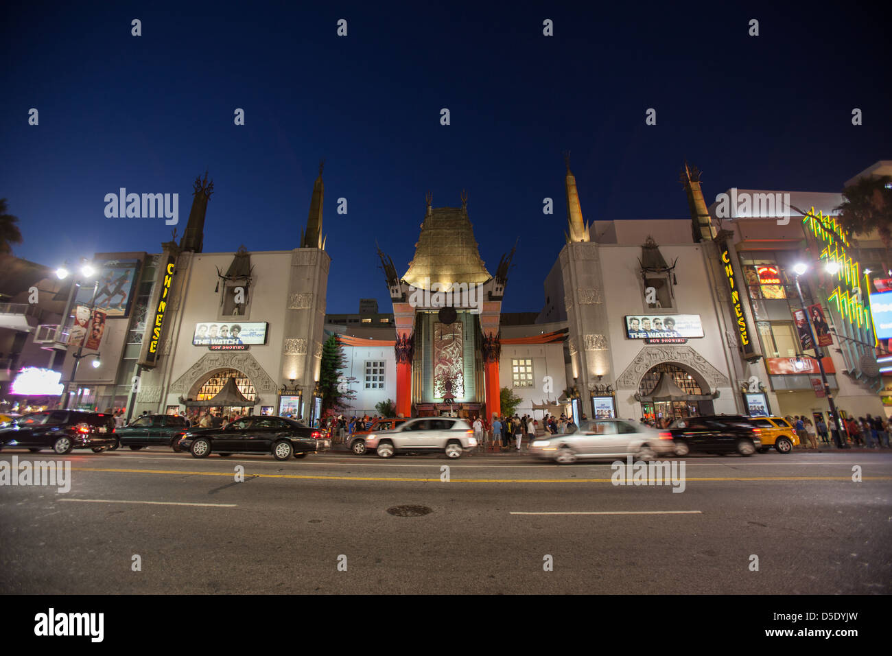 TCL (Grauman's) Chinese Theatre in Hollywood, Los Angeles, CA - Stock Image