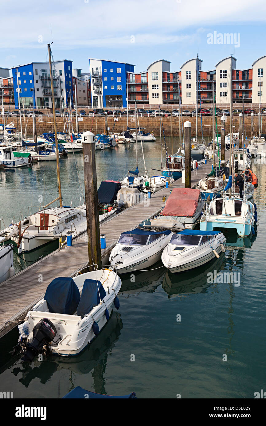 Marina at St Helier, Jersey, Channel Islands, UK - Stock Image