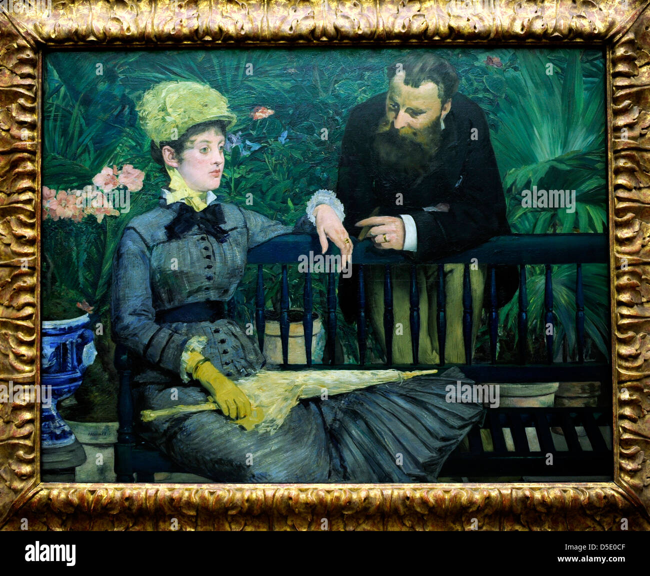 Edouard Manet 'In the Conservatory' 1879 Alte Nationalgalerie Berlin - Stock Image