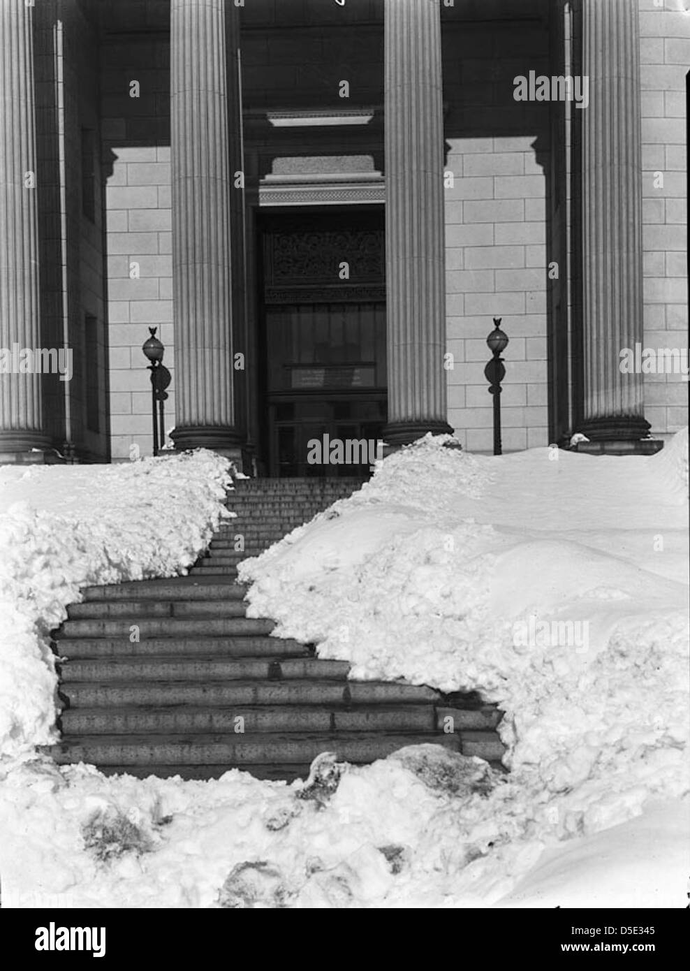 Natural History Building After Snow Storm - Stock Image