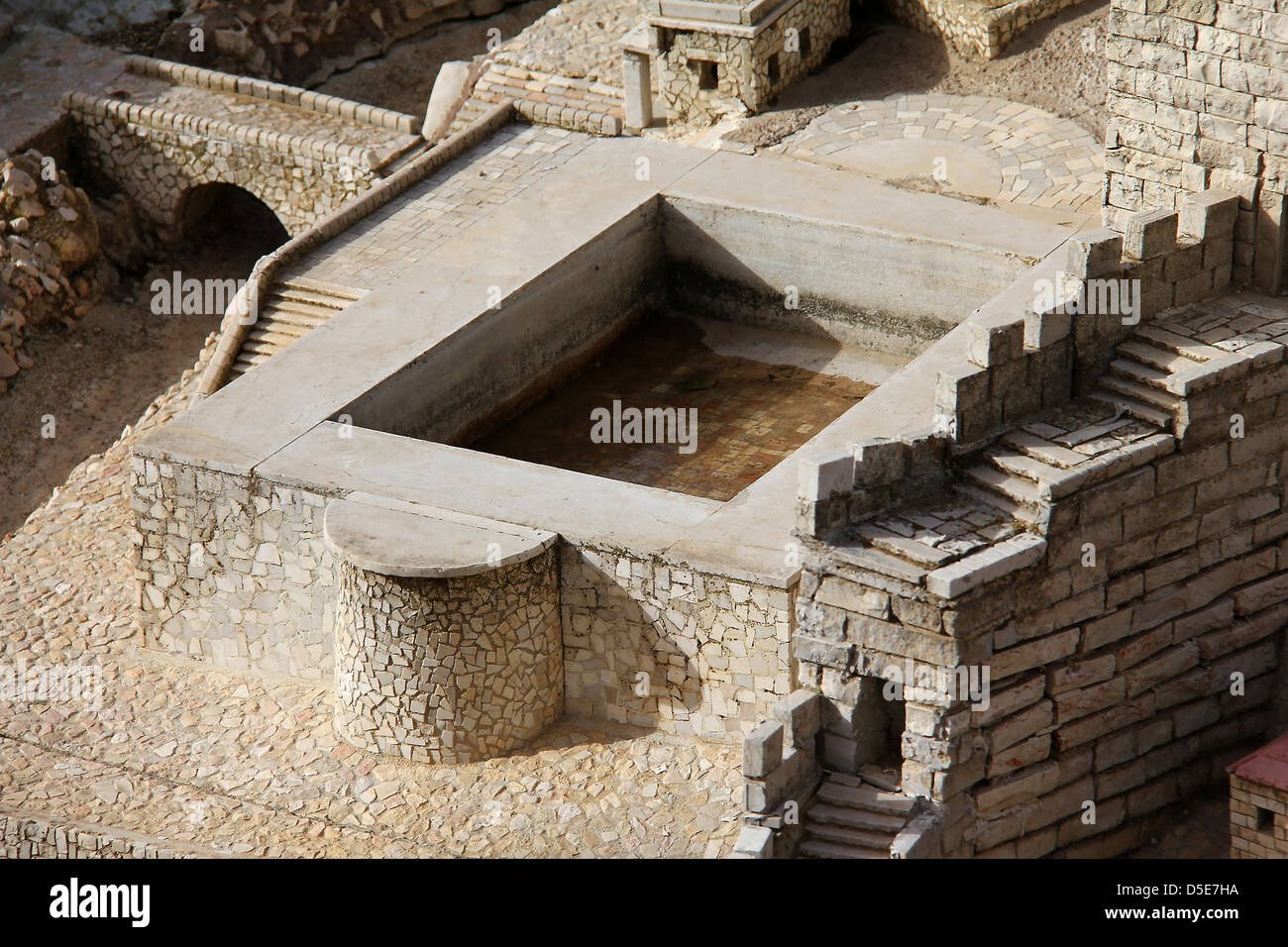 Silwan pool in the ancient Jerusalem. Stock Photo