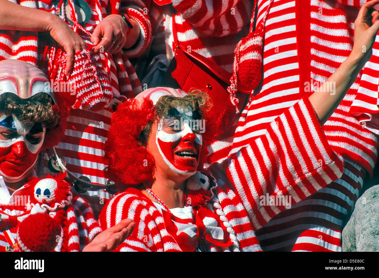 Group of clowns at the Cologne Carnival Stock Photo