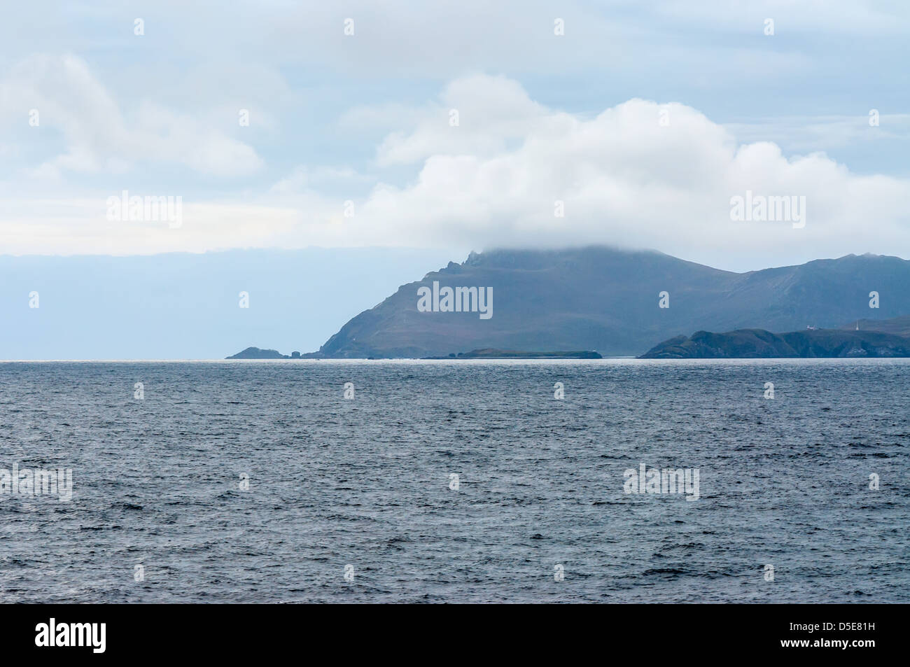 Cape Horn Chile, at 8,40 pm. - Stock Image