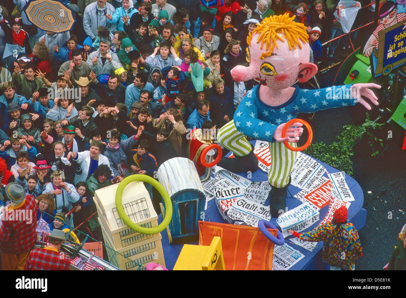 Carnival procession at Cologne in Germany Stock Photo