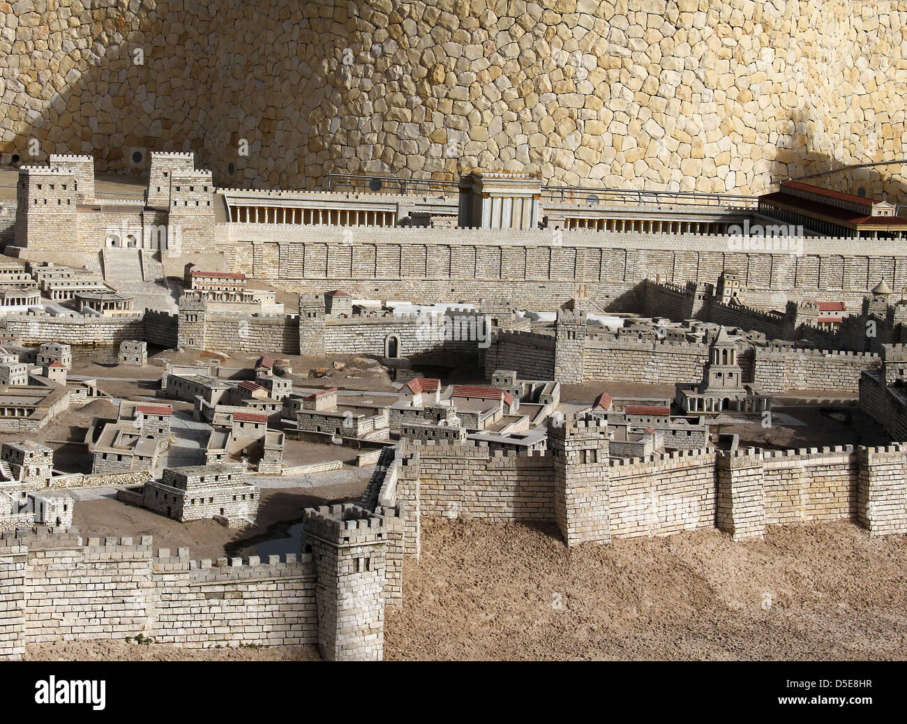 Model of the ancient Jerusalem. Israel Museum Stock Photo
