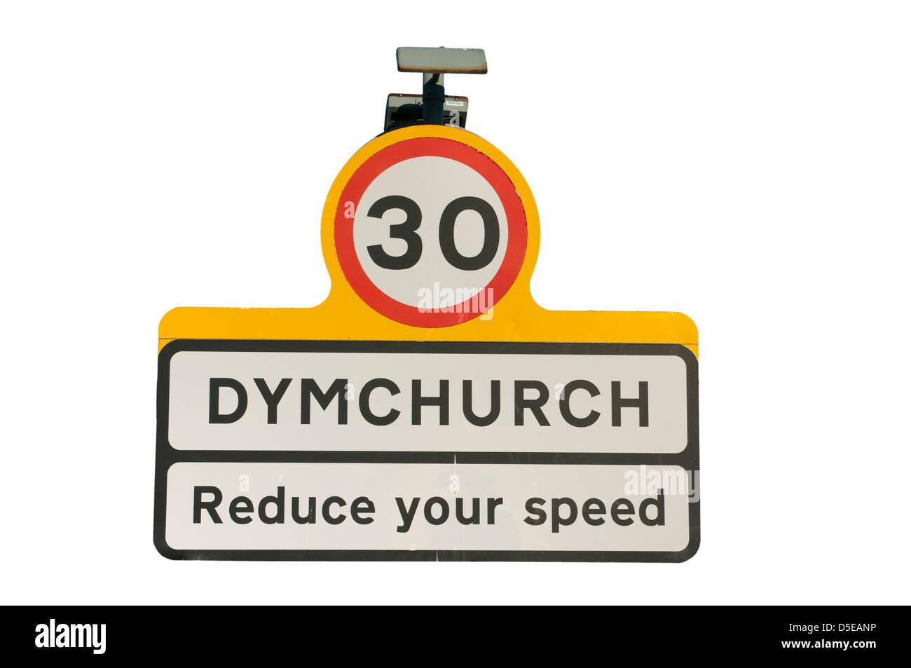 Dymchurch Kent UK Town Towns Sign Signs - Stock Image