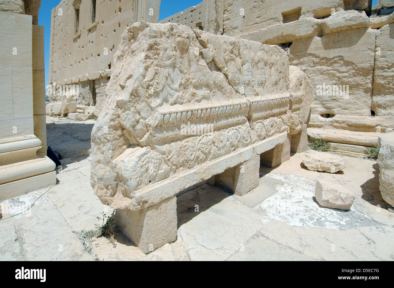 The Bas Reliefs On The Marble In Temple Of Bel In The Ancient City