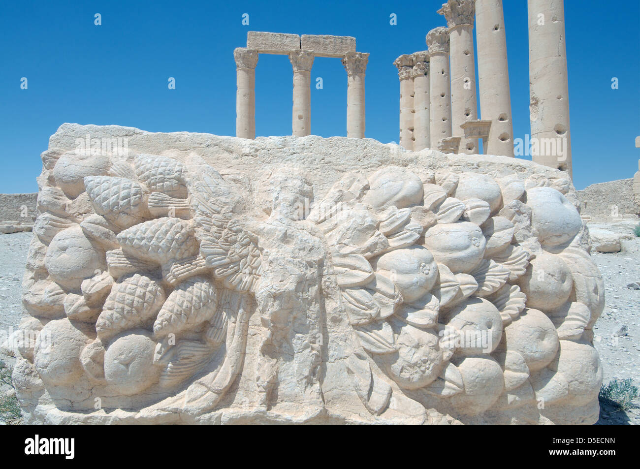 The Bas Reliefs On The Marble In Temple Of Bel Temple Of Baal In