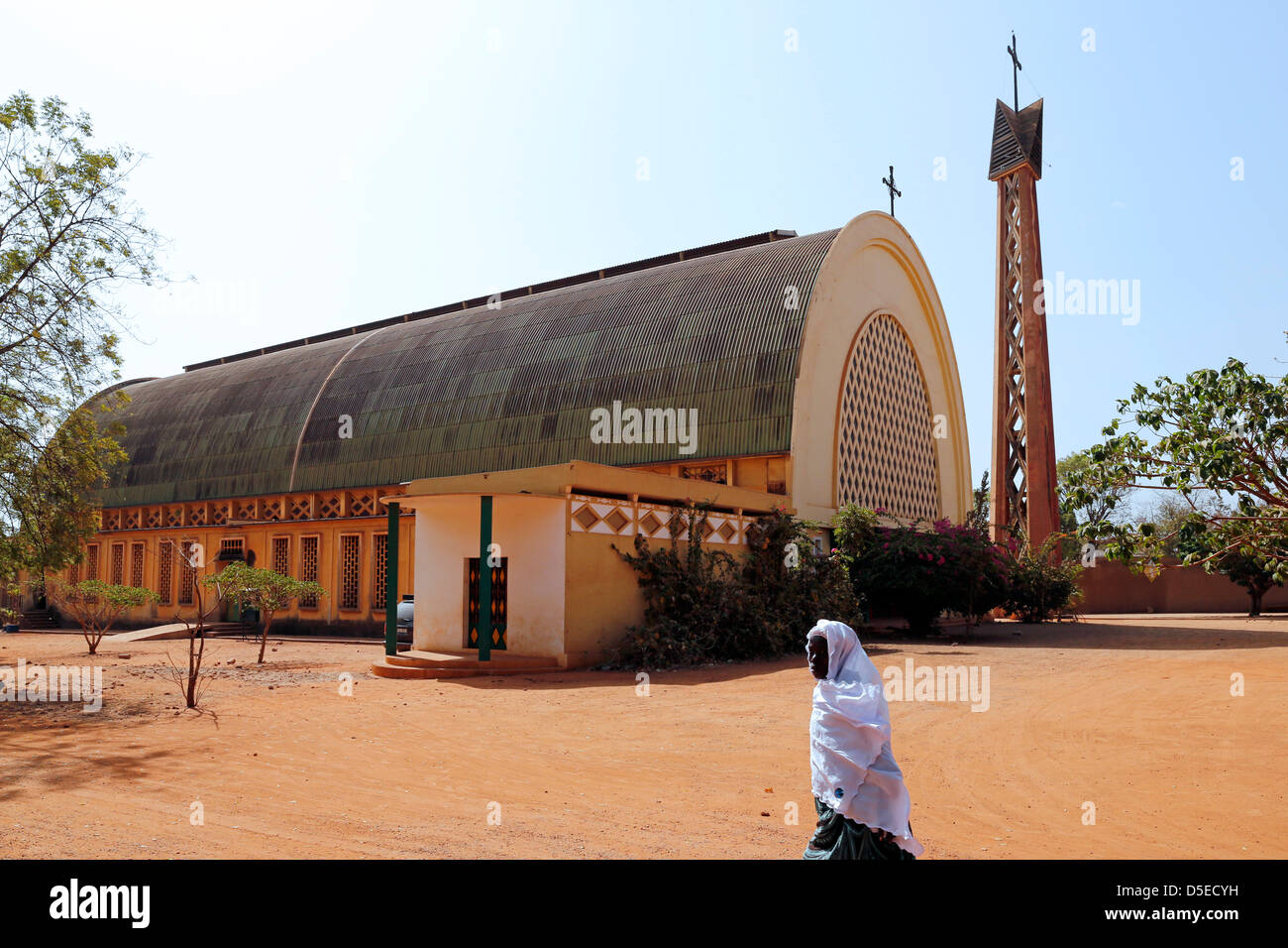 Roman Catholic Cathedral in Bobo-Dioulasse, Burkina Faso, Africa - Stock Image