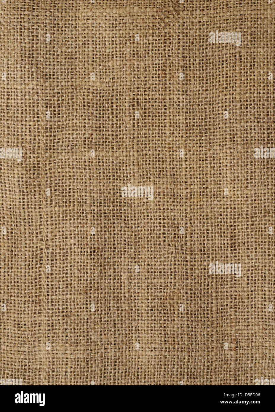 Hessian Sack, Close Up. - Stock Image
