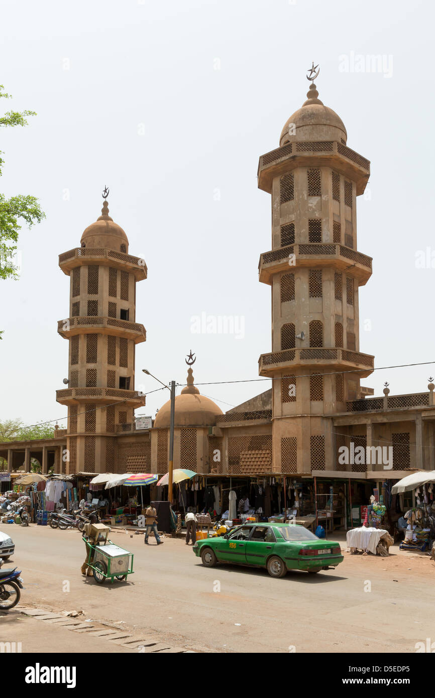 The Grand Mosque in Ouagadougou, Burkina Faso, Africa - Stock Image
