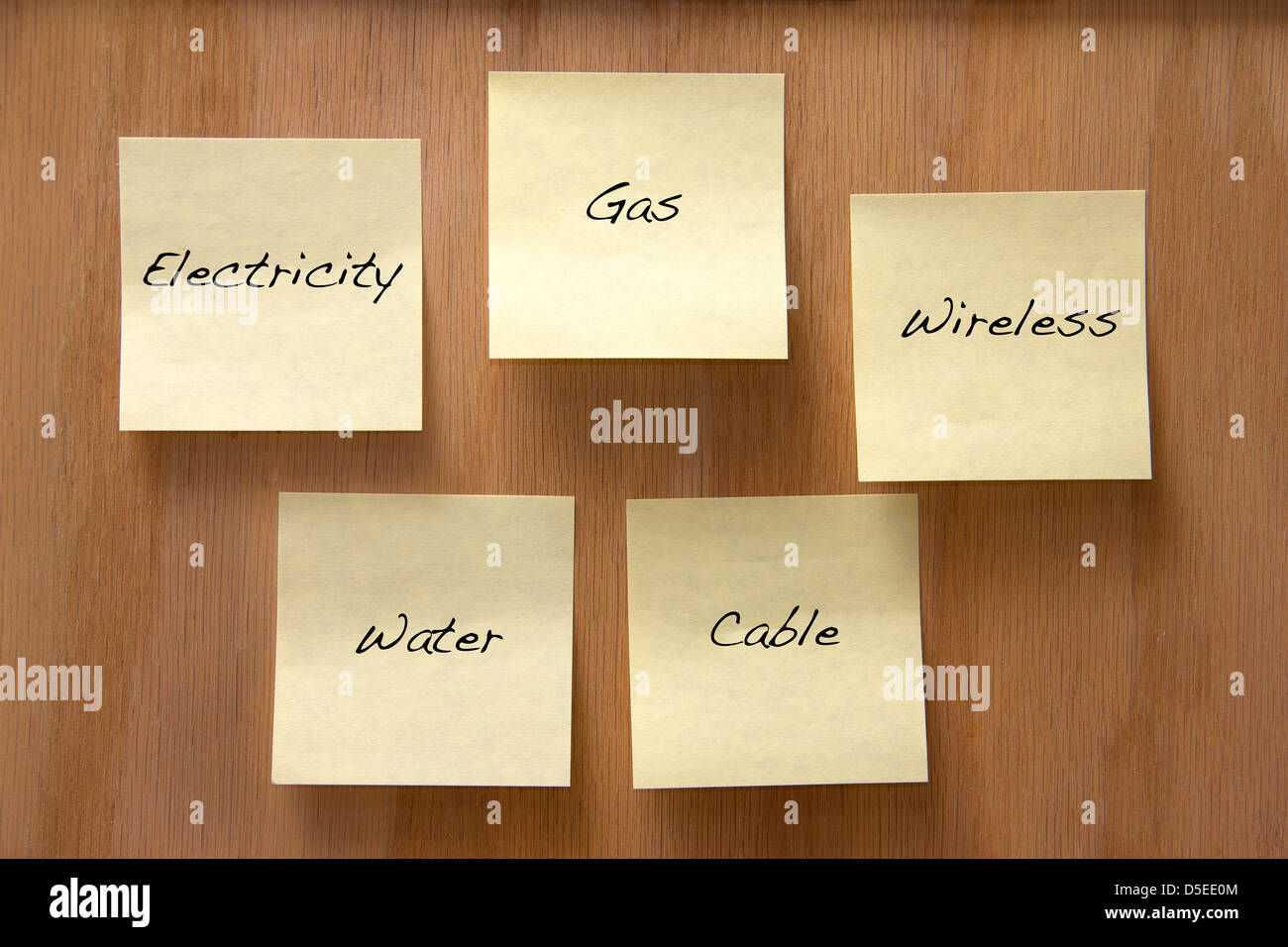 Common home utilities - Stock Image