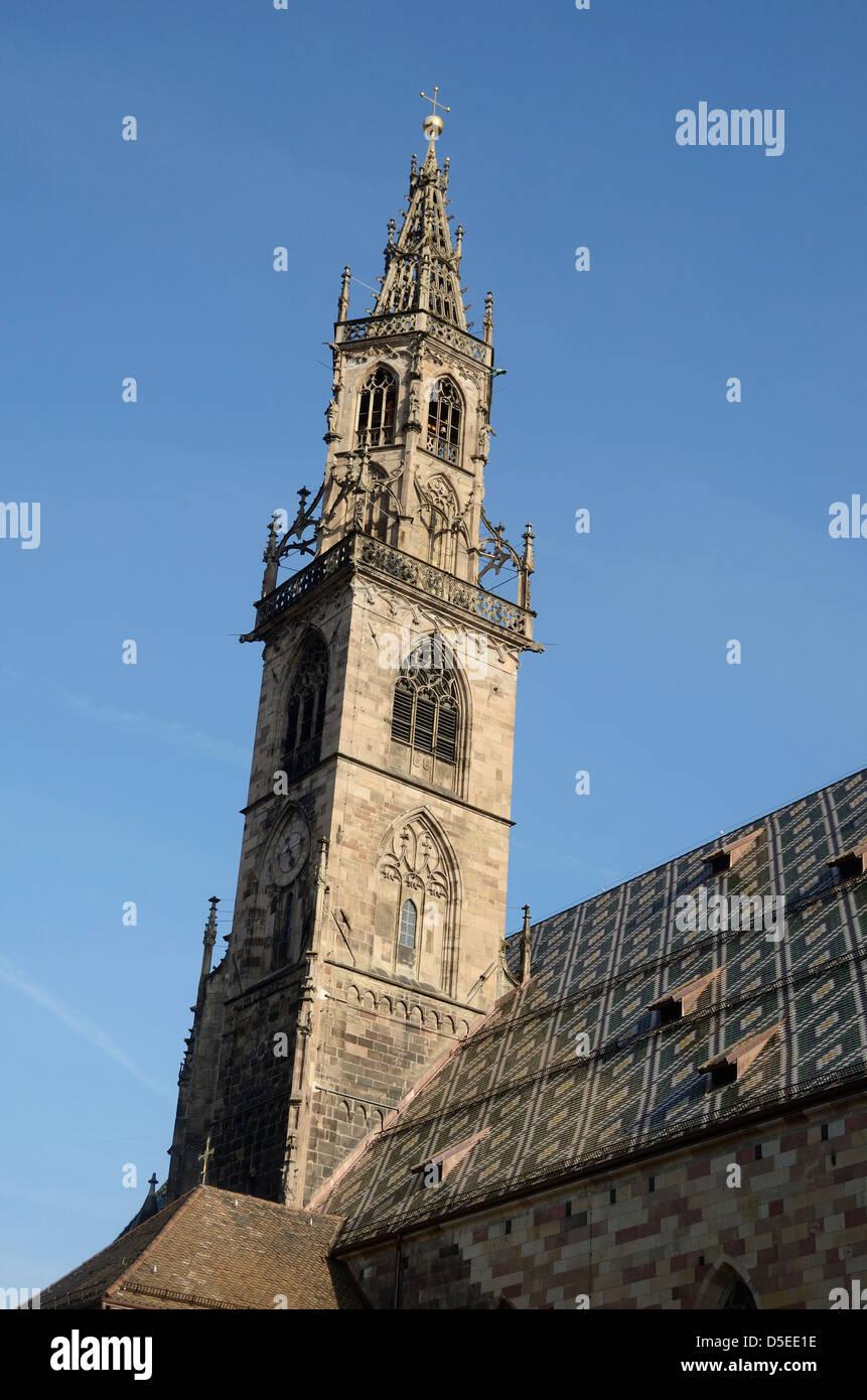 Bolzano Cathedral, Bolzano, Italy. - Stock Image