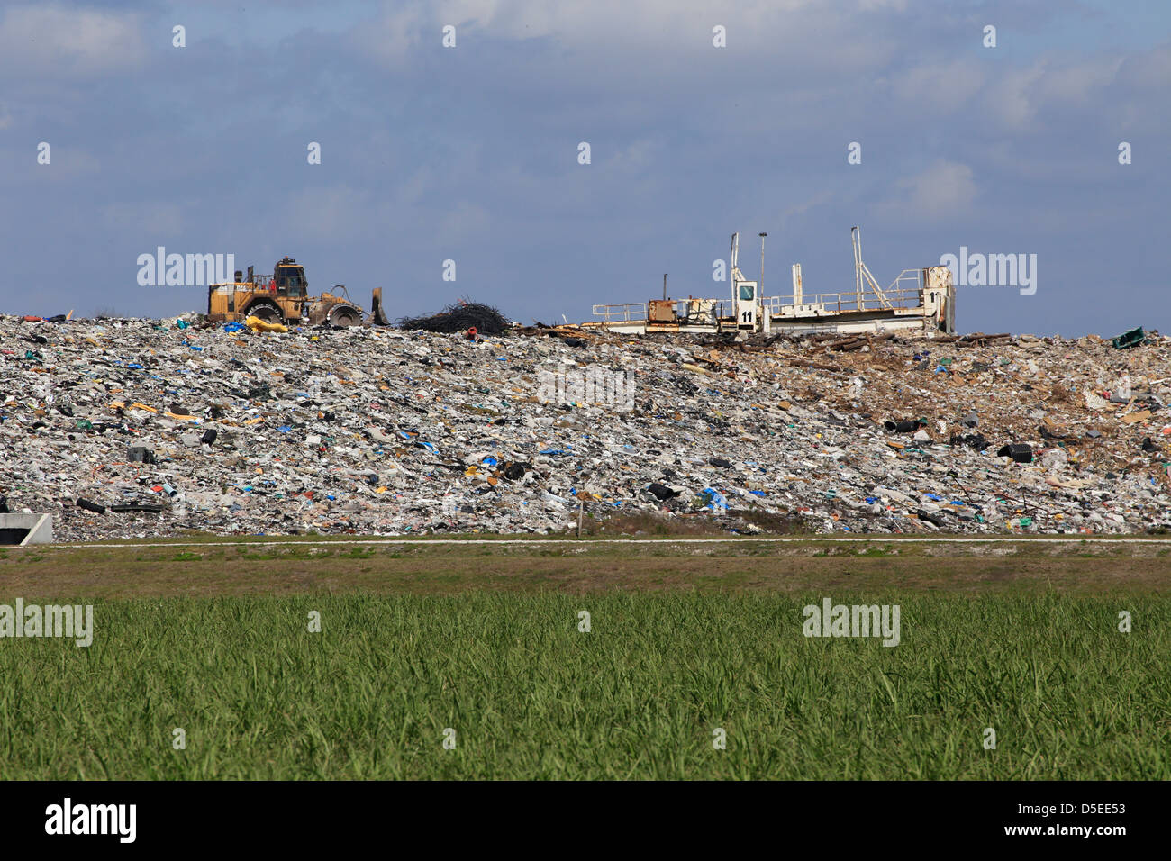 a solid waste garbage landfill in Florida in the USA - Stock Image
