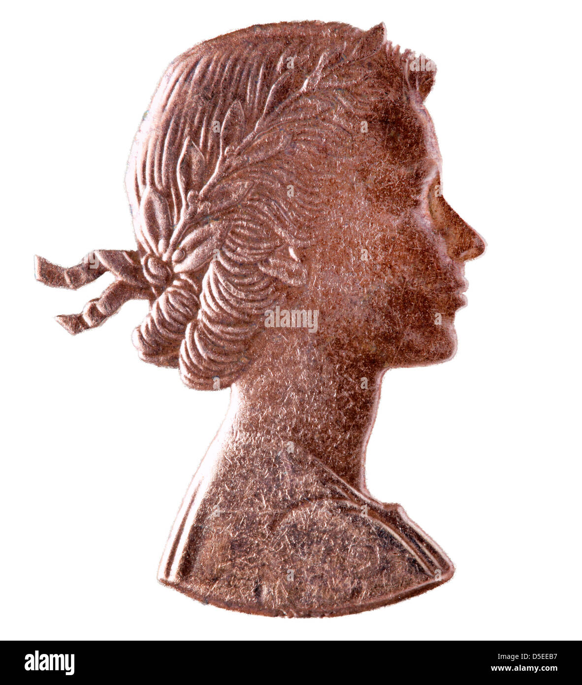 One Penny Coin And Elizabeth Stock Photos & One Penny Coin And