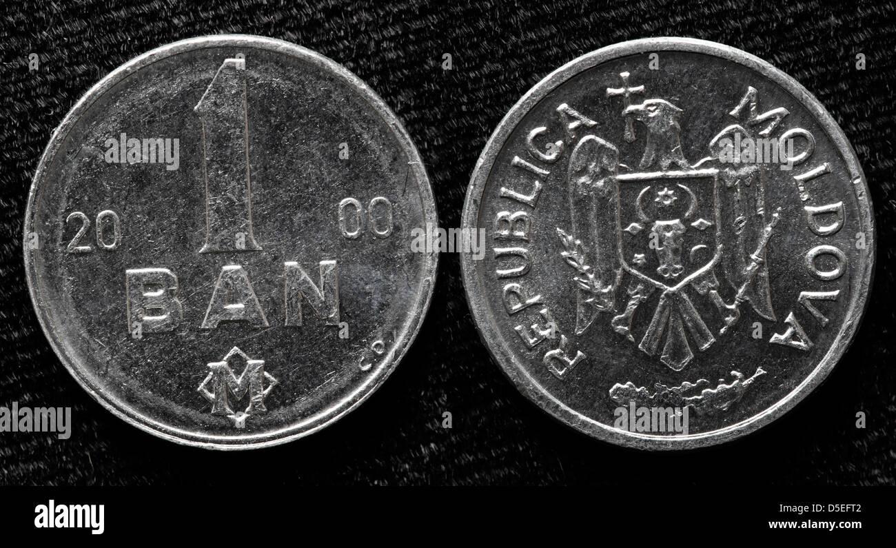 1 Ban coin, Moldova, 2000 - Stock Image