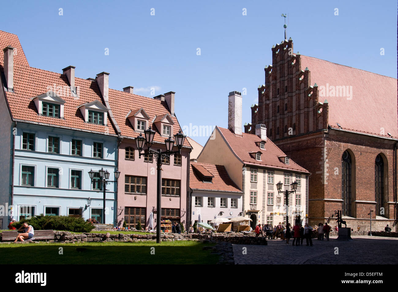 Old buidlings in Skanmu iela, Riga old town,Riga,Latvia,Baltic States - Stock Image