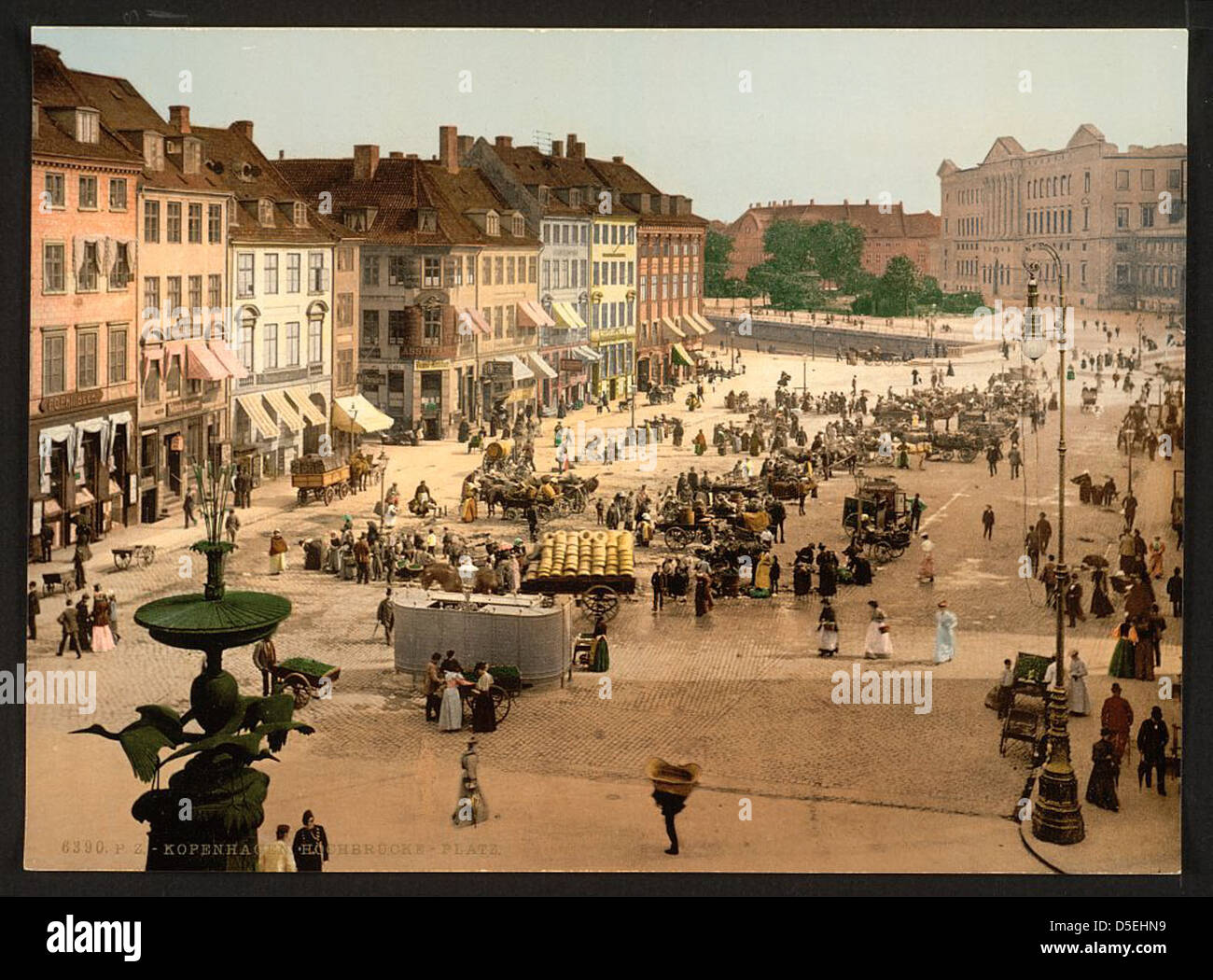 [Hochbrucke Square, Copenhagen, Denmark] (LOC) - Stock Image