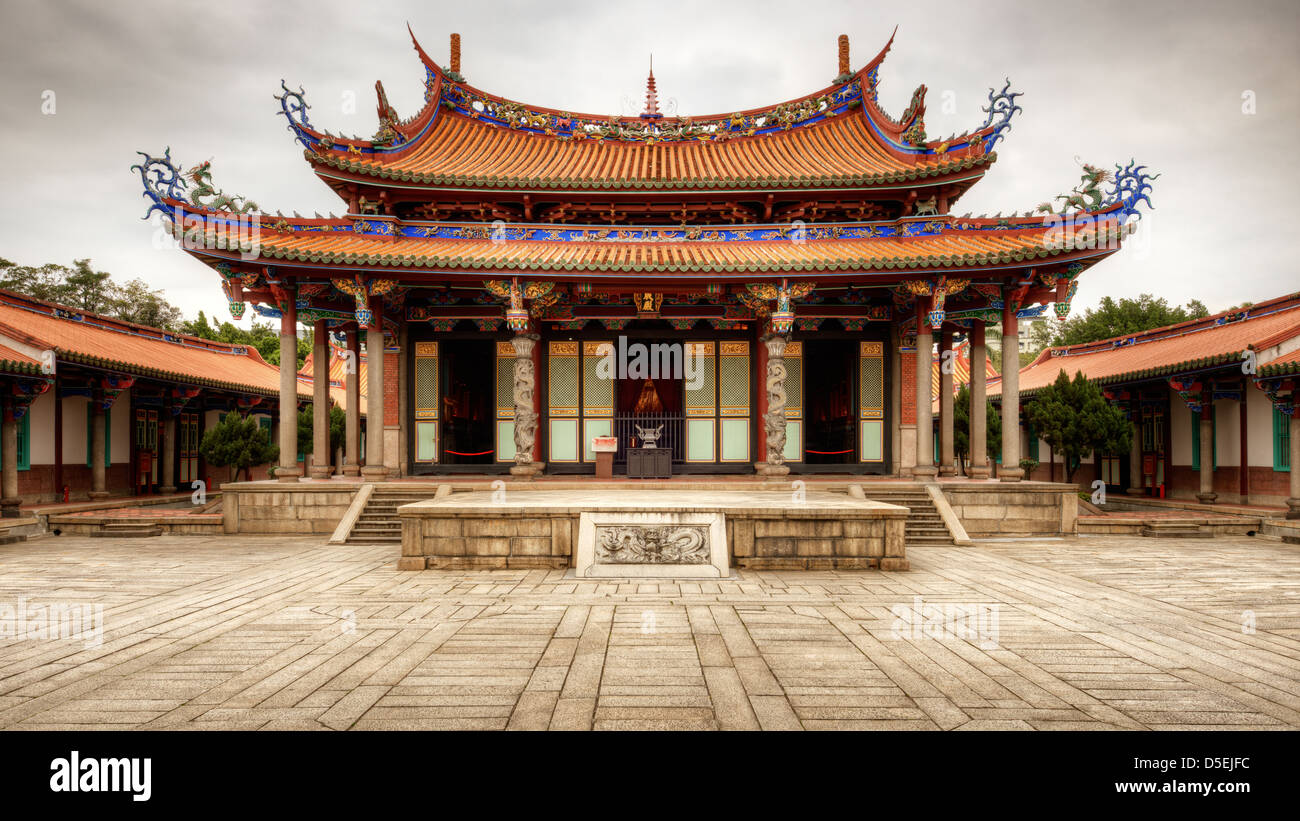 Taipei Confucius Temple in Taipei, Taiwan dates from 1879. - Stock Image