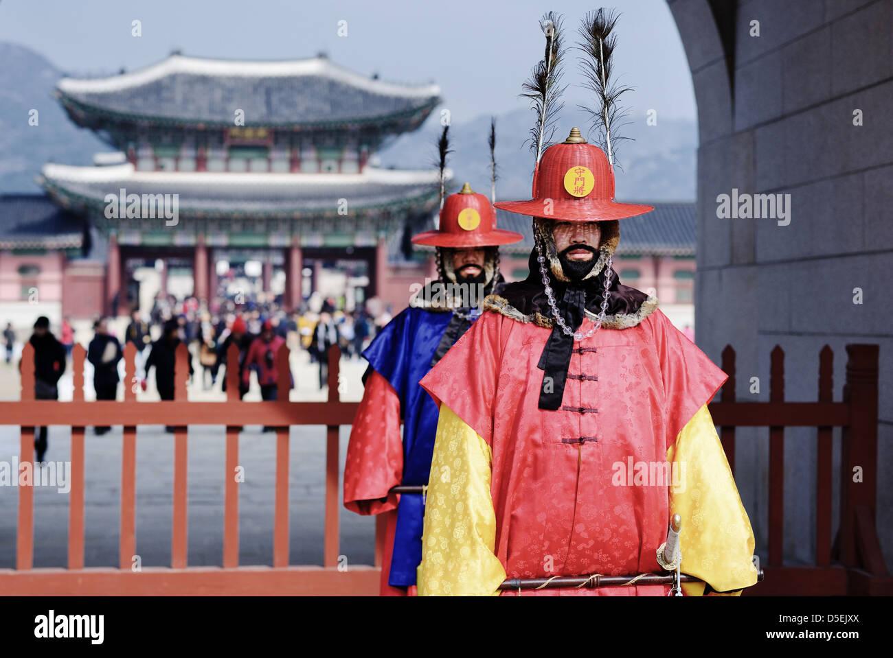 Gyeongbokgung Palace in Seoul, South Korea - Stock Image