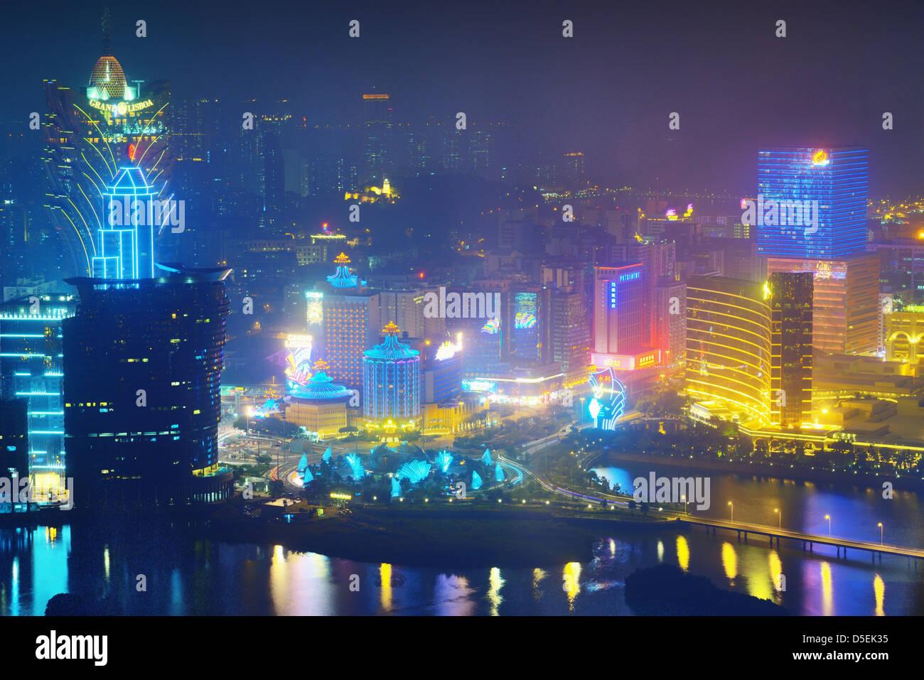 Resort casinos in Macau, China. - Stock Image