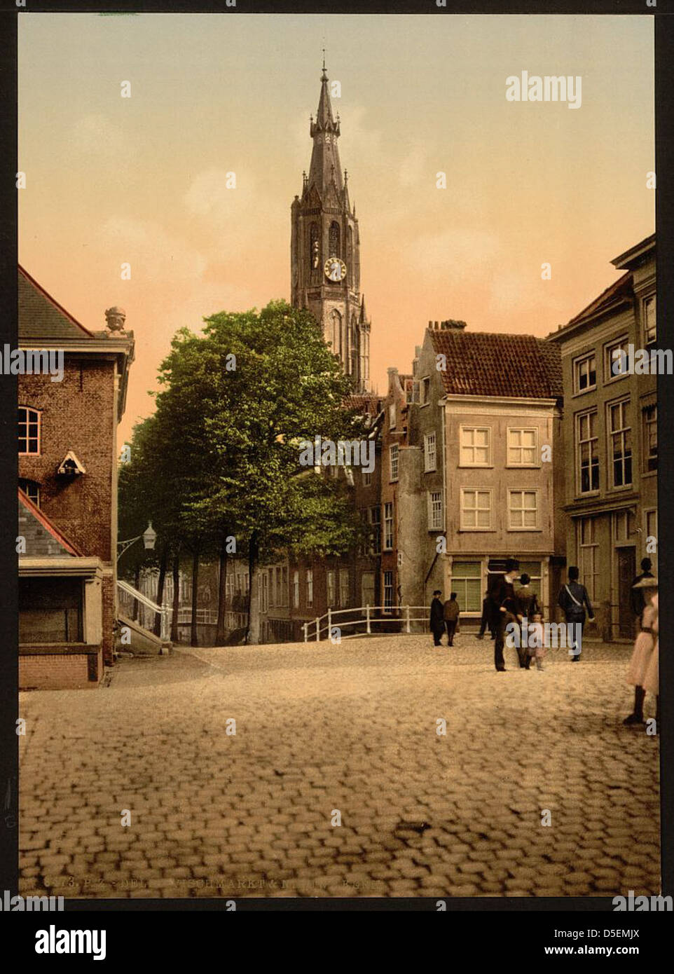 [Fish market and new church, Delft, Holland] (LOC) - Stock Image