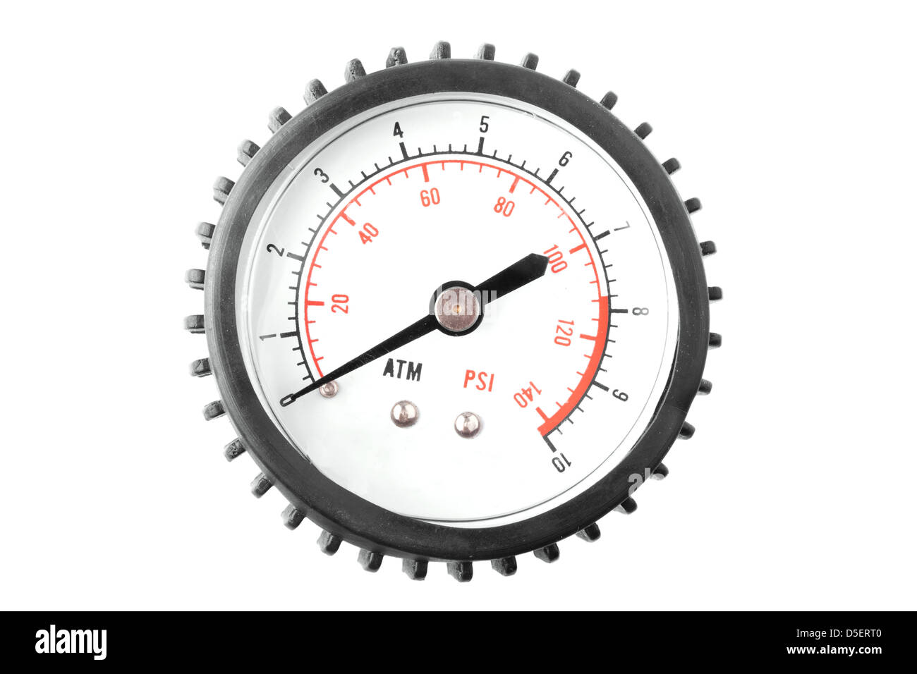Manometer on white background - Stock Image