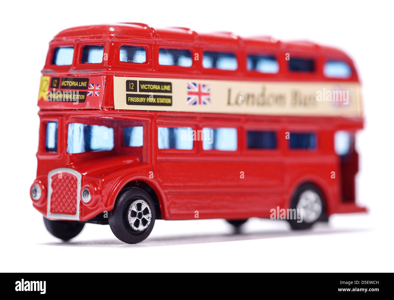 Toy red London bus - Stock Image